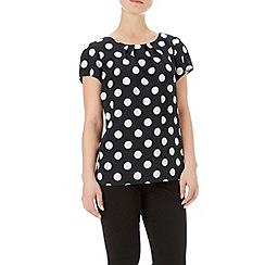 Wallis - Black spotted shell top