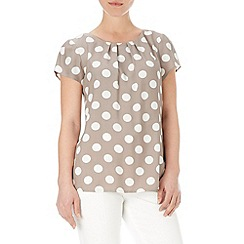 Wallis - Stone spotted shell top