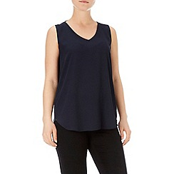 Wallis - Navy v neck tie back vest