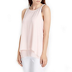 Wallis - Pink hotfix double layer top