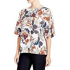 Wallis - Cream floral print kimono top