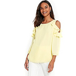 Wallis - Lemon yellow double layer top