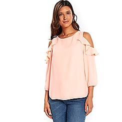 Wallis - Pink double overlayer top