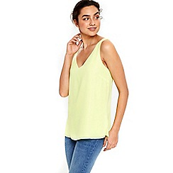 Wallis - Lime green v-neck camisole top