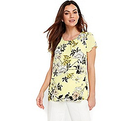 Wallis - Lime green floral top