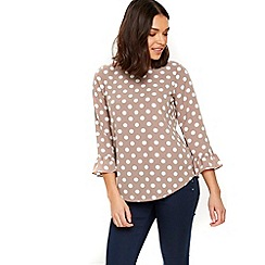 Wallis - Taupe spot top