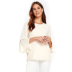 Wallis - Cream frill sleeves top