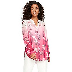 Wallis - Pink ombre water lily shirt