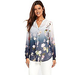 Wallis - Ink ombre waterlily shirt