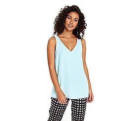 Wallis - Aqua v neck cami top