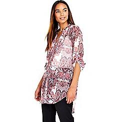 Wallis - Pink paisley longline shirt