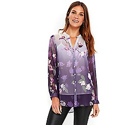 Wallis - Purple ombre lily shirt