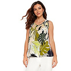 Wallis - Lime green palm split back top