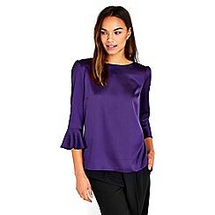 Wallis - Purple satin top