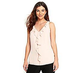 Wallis - Blush ruffle camisole top