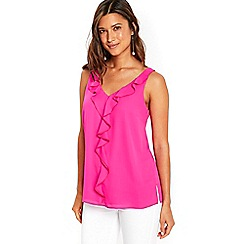 Wallis - Pink ruffle camisole top