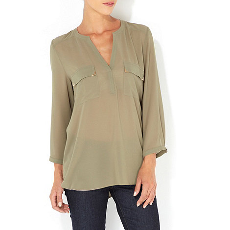 Wallis - Khaki green shirt