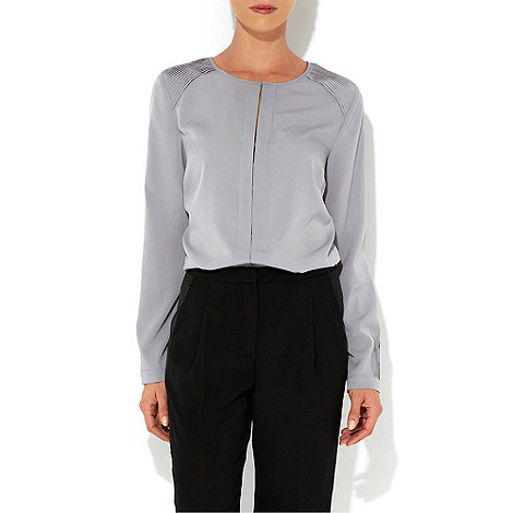 Wallis - W Collection - Silver pleat shoulder shirt
