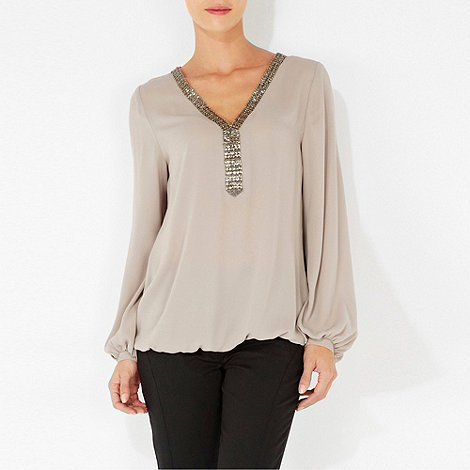 Wallis - Mink embelished blouse