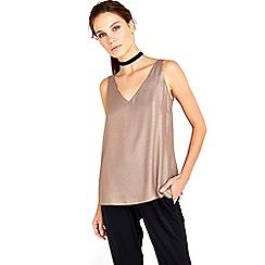 Wallis - Gold metallic camisole top