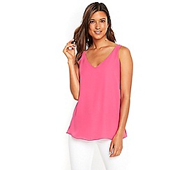 Wallis - Bright pink v neck camisole top