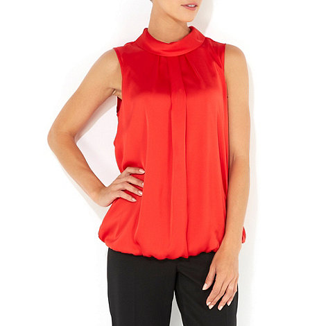 Wallis - Red high neck shell top