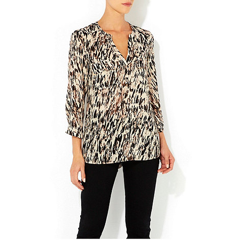Wallis - Brown printed shirt