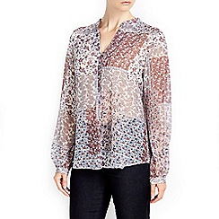 Wallis - Multi-coloured paisley print shirt