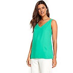 Wallis - Bermuda green v-neck camisole top