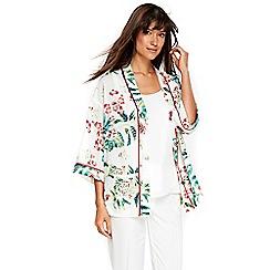Wallis - Ivory beaded floral jacket