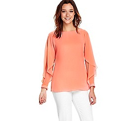 Wallis - Coral open sleeves blouse