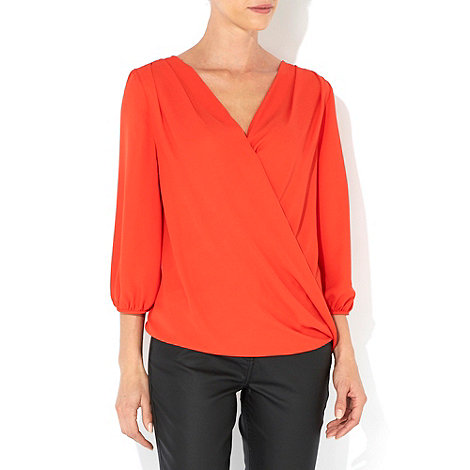 Wallis - Red drape wrap top