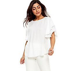 Wallis - Ivory hotfix top