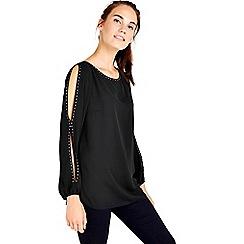 Wallis - Black studded top