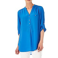 Wallis - Blue 3/4 sleeve shirt