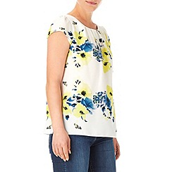 Wallis - Cream butterfly print shell top