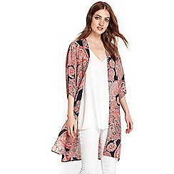 Wallis - Pink lace border paisley jacket