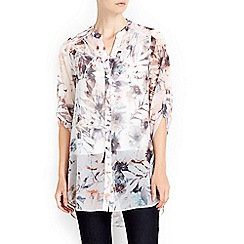Wallis - Cream fern print shirt