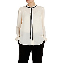 Wallis - Cream frill neck blouse
