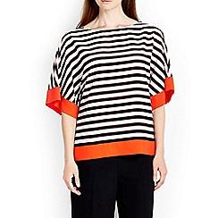 Wallis - Orange colour block kimono top
