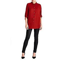 Wallis - Rust kimono sleeve shirt