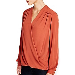 Wallis - Rust wrap top