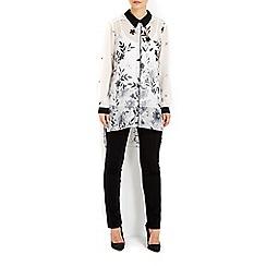 Wallis - Monochrome border shirt