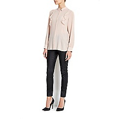 Wallis - Nude ruffle side shirt