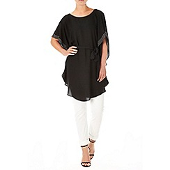 Wallis - Black embellished kaftan