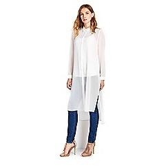Wallis - Ivory longline shirt