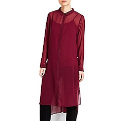Wallis - Extreme longline berry shirt