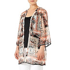 Wallis - Orange printed jacket