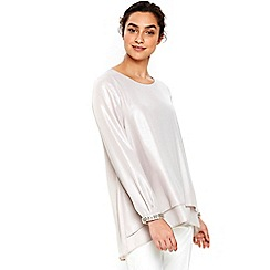 Wallis - Silver embellished cuff top