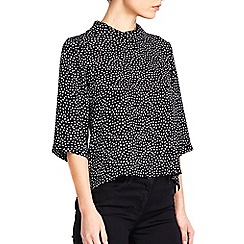 Wallis - Monochrome spot roll neck top